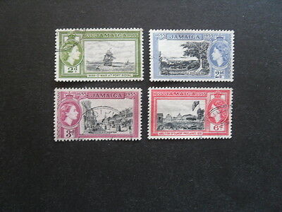 JAMAICA QE 11 1955 Tercentenary Issue SG.155-158 VFU