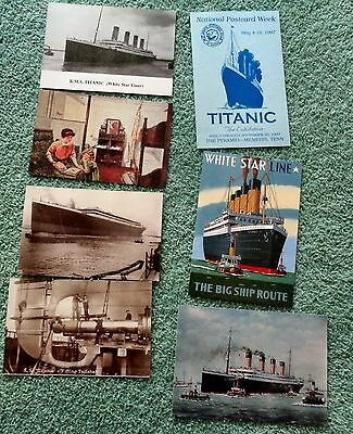 Titanic postcards collection of 7 modern FREE SHIPPING