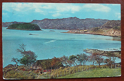 Real Photo Postcard Loch Shieldaig, Ross & Cromarty- Posted 1969