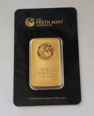The Perth Mint Australia Gold 1 One Ounce Bar Bullion Great Special Present