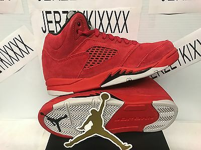Air Jordan Kid's Red Retro 5 (PS) Shoes University Red/Black 440889-602 ON HAND!