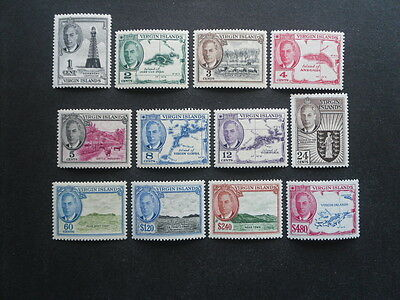 BR VIRGIN IS 1952 Set of 12 values to $4.80 SG.136-147 MH