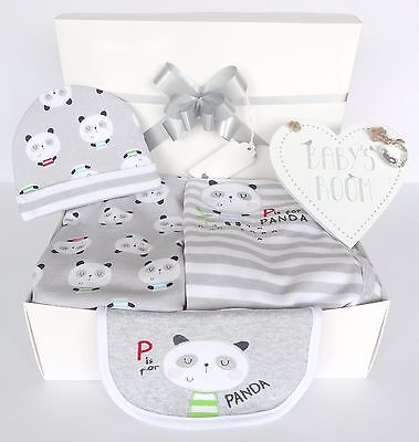 Baby Gift Hamper/Box. Unisex. Baby Shower. Nappy Cake. Inc 4 pc layette set.