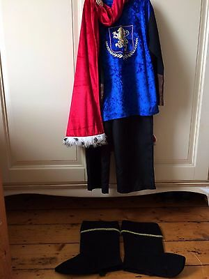 Young Boys' Knight/King(?) Costume Fancy Dress - Age 3-4, Used