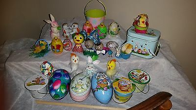 Vintage Lot Of Easter Decorations And Collectibles