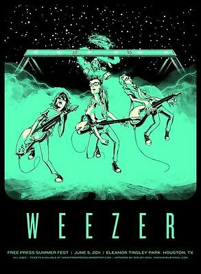RARE Weezer Concert Poster LARGE Signed & Numbered 26/50