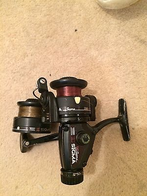 Vintage Shakespeare Sigma Supra 040 Spinning Reel Plus Spare Spool