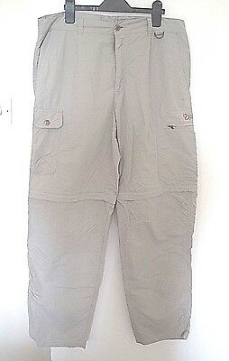 Fjäll Räven Mens Zip-Off Hiking/walking Trousers. Size 50 W34 L32. Shorts.