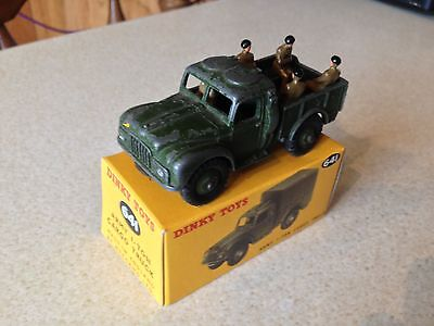 Dinky Army Military 1 Ton Truck 641 + Crew + Box