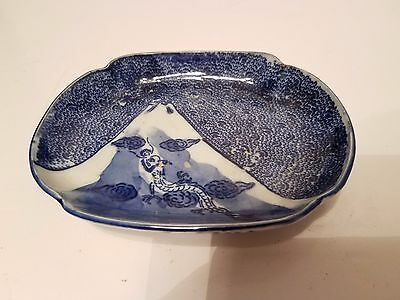 A Chinese Estate Porcelain Dragon-decorating Plate Tray  Dish