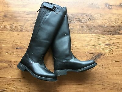 Harry hall Black Leather Riding Boots Size 5 (worn Once)