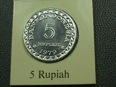 INDONESIA    5  Rupiah    1979    BRILLIANT  UNCIRCULATED   ,    MINT  SET