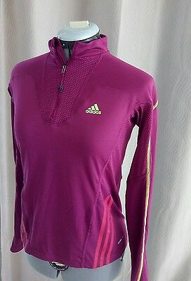 Tee-shirt manches longues Violet ADIDAS Taille 40 TBE Climalite Training