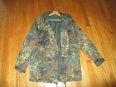 German Army Field Coat Jacket With Hood - Flecktarn Camo - Real Military Issue