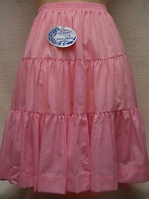 New Rockmount Square Dance Skirt Pink XL Tiered
