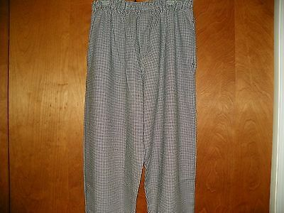 1 New Pair Of Uncommon Threads Houndstooth Baggy Chef Pants In Size Large