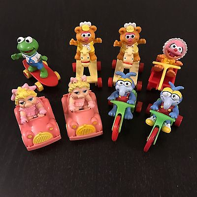 Muppet Babies McDonalds Happy Meal Toys 1986, Lot Of 8. Rare Baby Animal