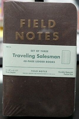 Field Notes Traveling Salesman Limited Edition sealed 3-pack New and Unused