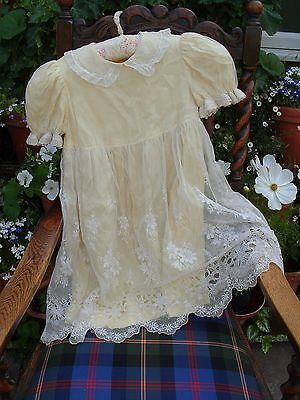 Antique Vintage Lace Child's Childrens Dress Gown Childs Clothing