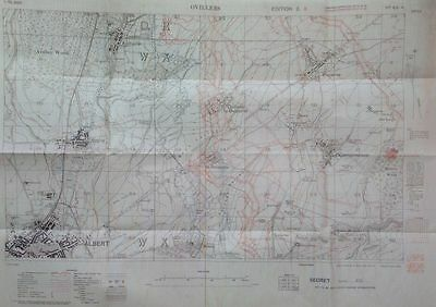 OVILLERS Somme Battlefield Pozieres La Boiselle Sausage Valley New trench map