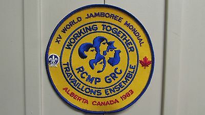 RCMP & Boy Scouts Working Together XV World Jamboree Mondial  - AB  Canada 1983