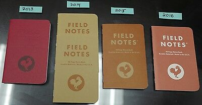 Field Notes Tournament of Books single notebooks (5 total) 2013-2016 NEW UNUSED