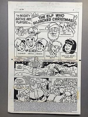 Laugh Comics Vol.2 #26 pg. 1-6, Febr. '91, 6 pg story, original art  CHRISTMAS