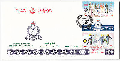 X7085 First Day Cover Oman, Muscat 14-5 2005, Civil Defense
