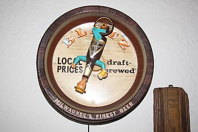 Blatz Bottle Man Riding Unicycle sign light Beer Advertising Breweriana Works!!!