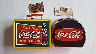 Lot of (2) NWT Coca-Cola Tin Lunch Boxes