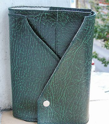 NWT Bible Cover- Green Faux Leather / Standard Size