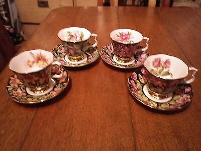 Royal Albert Provincial Flowers Cup And Saucer x 4 vintage royal albert china