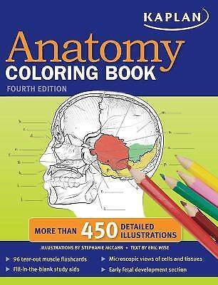 Musculoskeletal Anatomy Coloring Book By Joseph E Muscolino : Kaplan anatomy coloring book u2022 $3.99 picclick