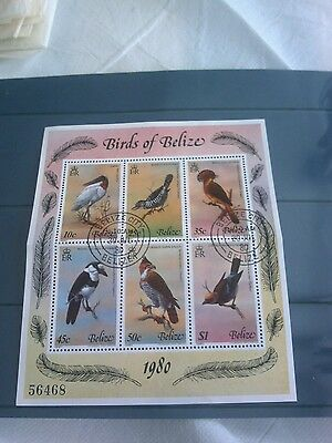 Belize Stamps (6) 1980 Birds