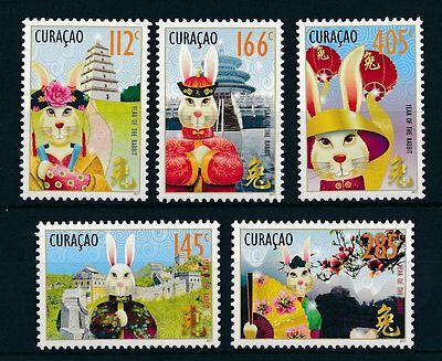 [CU014] Curacao 2011 Chinese New Year of the Rabbit MNH # 14-18