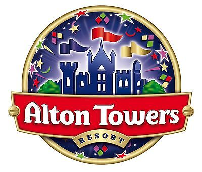 2 x tickets for alton towers 04/09/2017  september