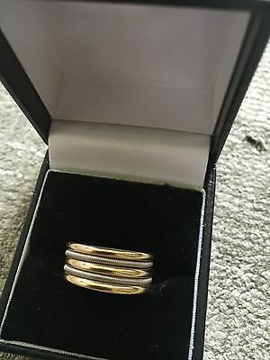 Beautiful 18ct Yellow And White Gold Marco Bicego Band Ring