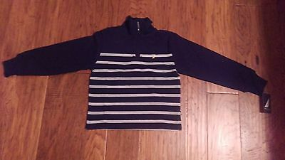 NWT Nautica Boy's Long Sleeve Henley Zip Up Sweater Size 6
