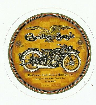 COVENTRY EAGLE MOTORCYCLE Sticker Decal