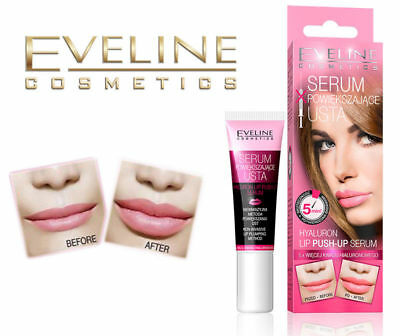 Eveline Hyaluron Labbra Push-Up Siero, Booster Filler Ingrandimento Volumizzante