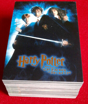 HARRY POTTER - CHAMBER OF SECRETS - COMPLETE BASE SET of 90 trading cards ARTBOX