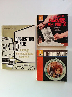 lot de 3 Livres sur la photo argentique et la projection
