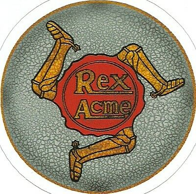 REX ACME  MOTORCYCLE  Sticker Decal