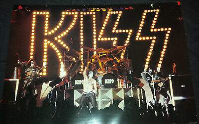 kiss: poster made in england 1980's live stage shot