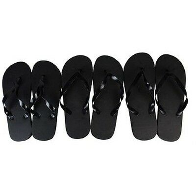 Black Flip Flops, Wholesale lot of 48 pairs, Assorted Sizes