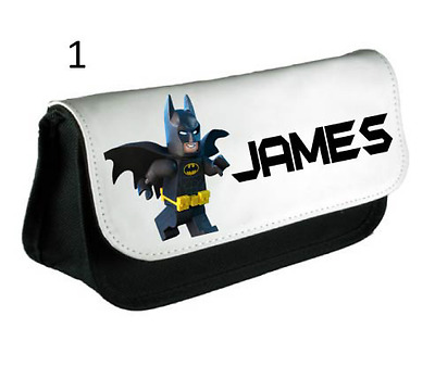 Batman Lego Personalised Pencil Case, make up bag, school any name