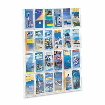 Safco Products 5601CL Reveal Literature Display, 24 Pamphlet, Clear