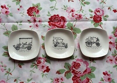 Midwinter Stylecraft Motor Car Pin Dishes By Terence Conrad