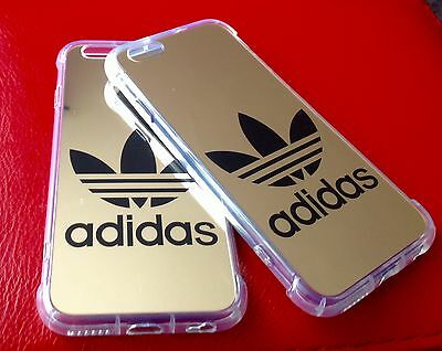 Gold Hard Plastic Adidas  Logo Phone Cases for iPhone 7