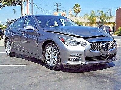 2015 Infiniti Q50 Premium 2015 Infiniti Q50 Sedan Wrecked Repairable Low Miles Luxurious Perfect Project!!